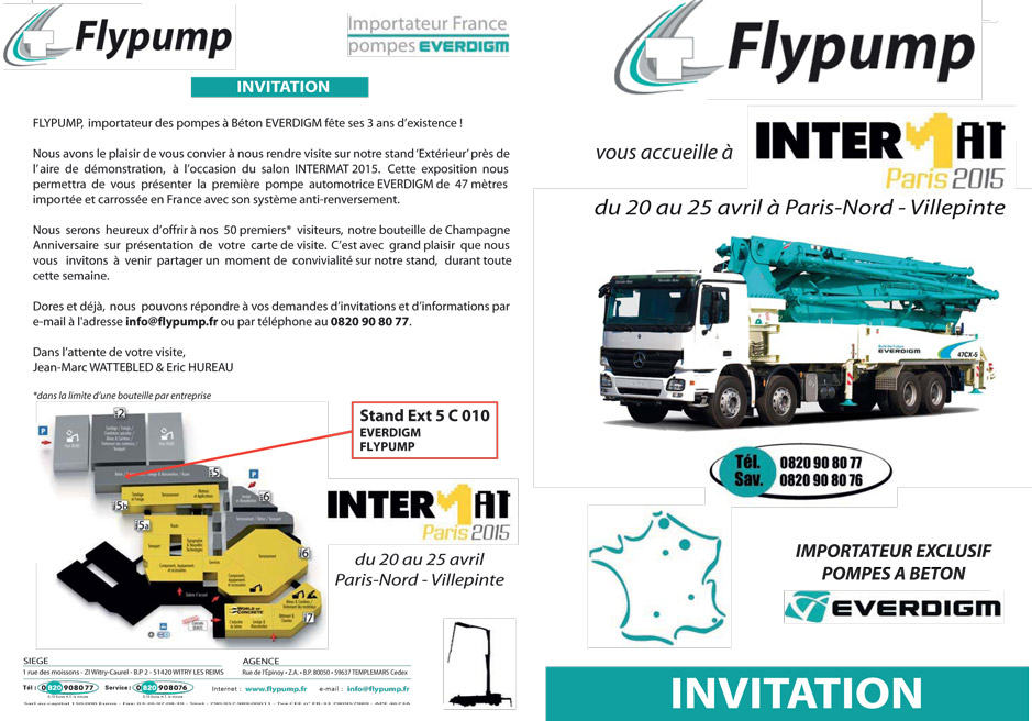 FLYPUMP INVITATION INTERMAT 2015